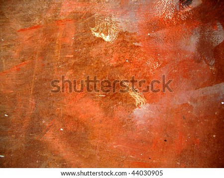 scratched rusty wall background - stock photo