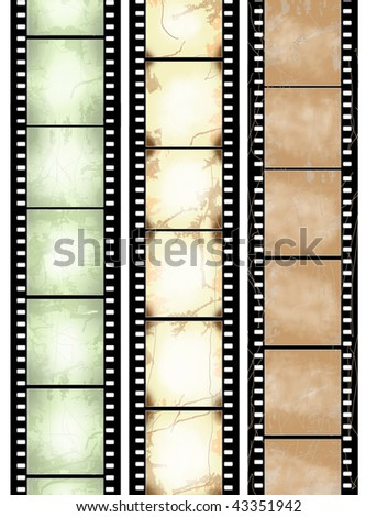 scratched seamless film strips - check for more - stock photo