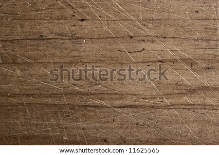 Scratched table. - stock photo