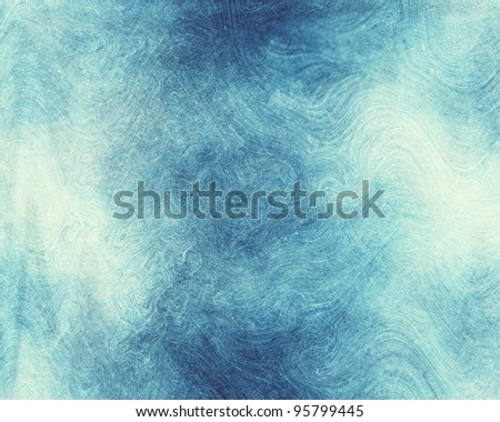 Scratched Texture Blue Ice Background - stock photo