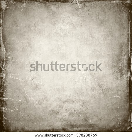 Scratched, vintage monochromatic paper background. - stock photo