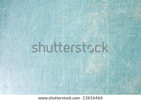 Scratchy green School desk background with copyspace - stock photo