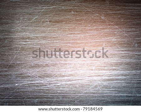 scratchy metal board - stock photo