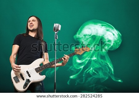 Scream, fashion, guy. - stock photo