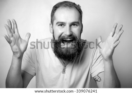 Screaming and successful man - stock photo
