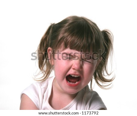 Screaming Fit Throwing Child - stock photo