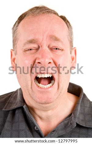 Screaming for Help - stock photo