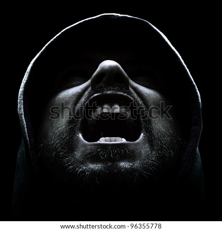 screaming man - stock photo