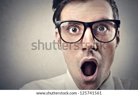 Screaming office worker - stock photo