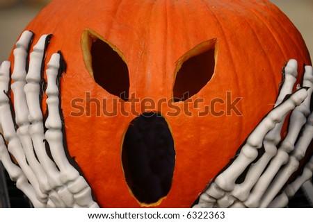 Screaming Pumpkin - stock photo