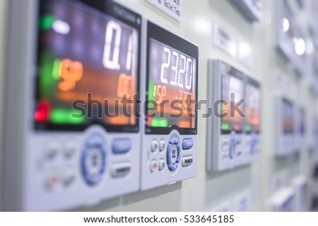 screen and controller on industrial equipment