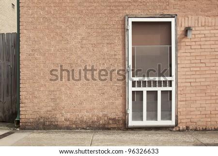 screen door background - stock photo