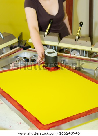 Screen Print � Preparation Of Frame - stock photo