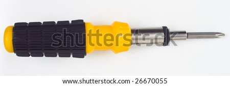 screw driver with rubber handler