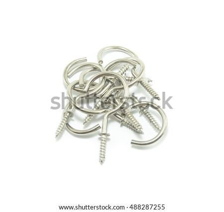 Screw Hook on White background
