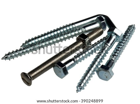 Screw metal it is isolated on a white background