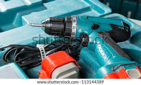 Screwdriver in the box - stock photo