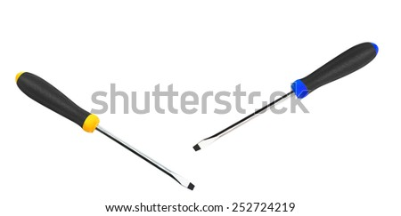 Screwdrivers isolated on a white background