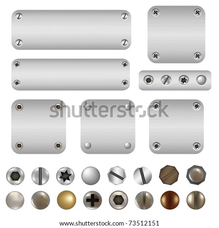 Screws And Bolts, Isolated On White Background - stock photo
