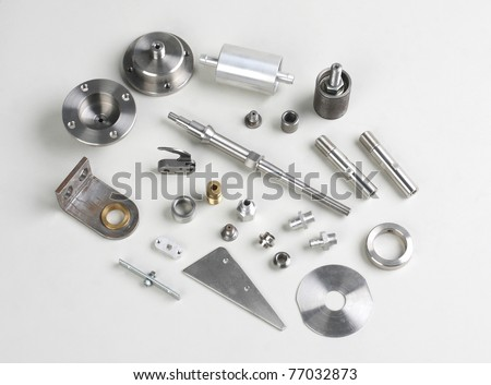 Screws and necessary part in the automobiles - stock photo