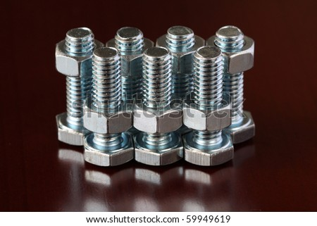 Screws and nuts - stock photo