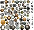 Screws head collection - stock photo