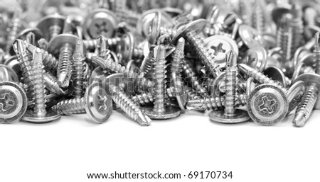 screws isolated on a white background - stock photo
