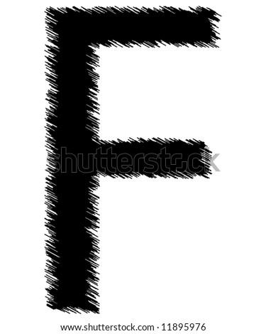 Scribble Style Alphabet Single Letter Stock Illustration ...