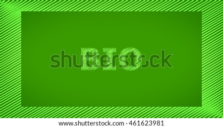 Scribble text on green background - BIO