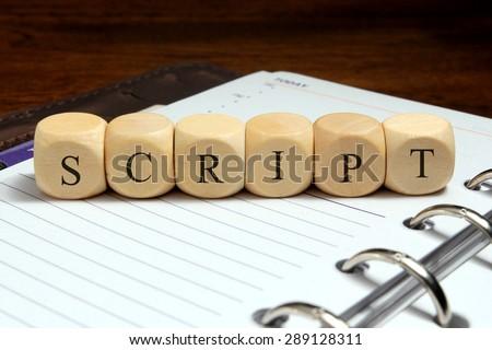 SCRIPT word concept - stock photo