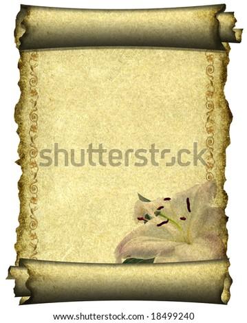 scroll - stock photo