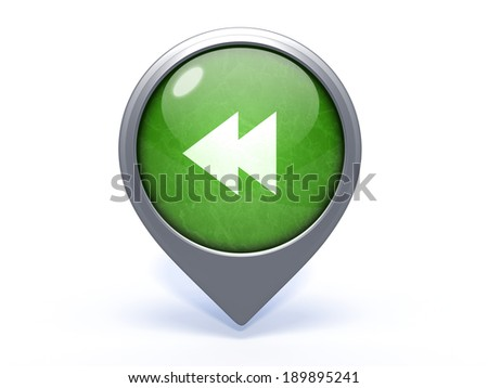 scroll circular icon on white background