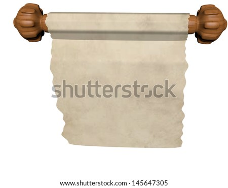 scroll 3D-Render - stock photo