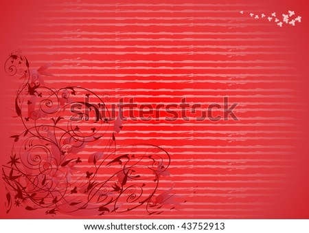 Scroll pattern with swirl ornaments. - stock photo