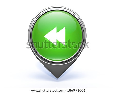 scroll pointer icon on white background