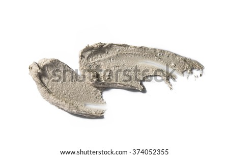Scrub Sample isolated on white  - stock photo