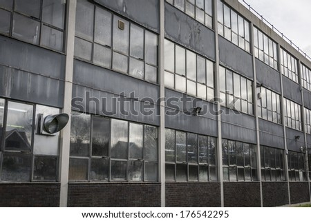 Scruffy 1970's design factory unit in Britain during recession