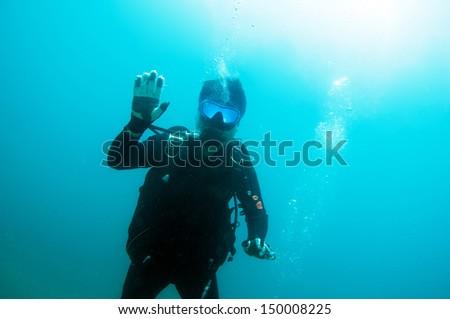 Scuba Diving - stock photo