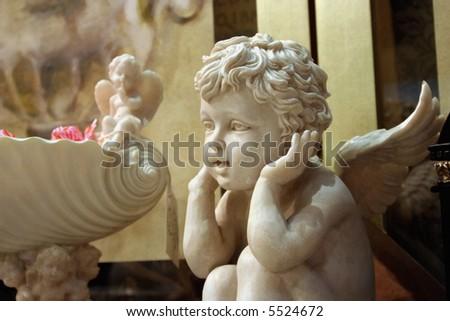 sculpture angel - stock photo