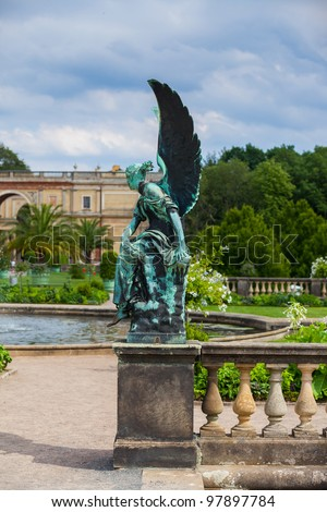 sculpture at Sanssouci Palace in Potsdam Germany on UNESCO World Heritage list - stock photo
