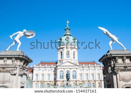 Sculpture at the door of the Schloss Charlottenburg, Berlin  - stock photo