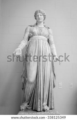 Sculpture Athene ancient greek mythology. - stock photo