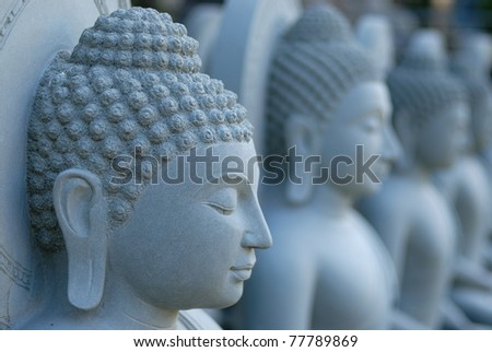 sculpture buddha , Thailand - stock photo