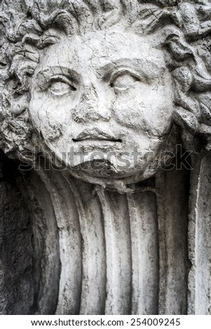 Sculpture detail in the streets of Verona, Italy - stock photo