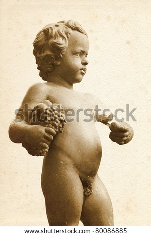 Sculpture from old palazzo in Florence (Italy) - stock photo