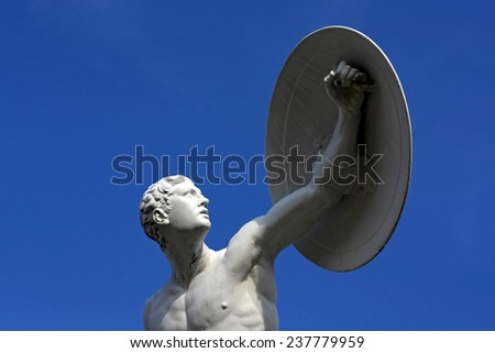 Sculpture in Berlin, Germany - stock photo