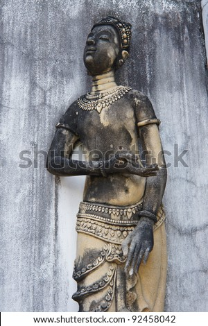 Sculpture, monuments, temples in Thailand.