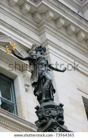 Sculpture near the Reichstag building (Berlin, Germany) - stock photo