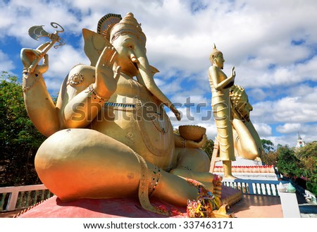 Sculpture of a mythical creature. Temple Mok Khan Lan. Chom Thong, Chiang Mai province - stock photo