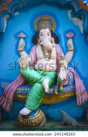 Sculpture of Hindu god(Ganesha). - stock photo